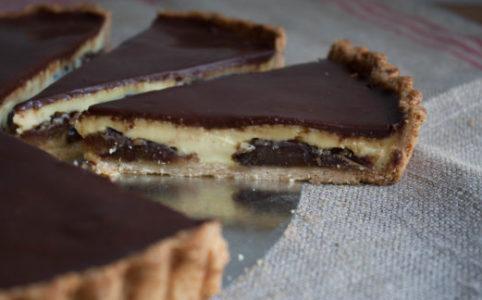 chocolate date tart
