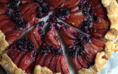 Plum & Blueberry Almond Cream Galette